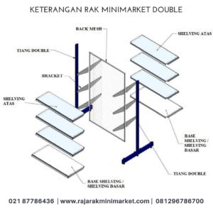 jual rak toko | rak gondola | rak display | Tipe RR12 | Raja Rak Minimarket