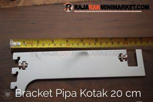 Daun Bracket Pipa Kotak Panjang 20 cm - Bracket Pipa Kotak H 20