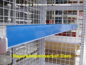 Label Harga Rak Minimarket Rata Standard BIRU