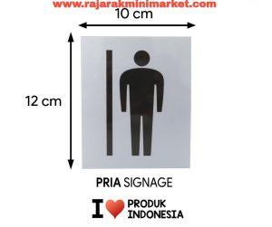 SIGNAGE / LOGO PERINGATAN PRIA PICT 10x12 CM