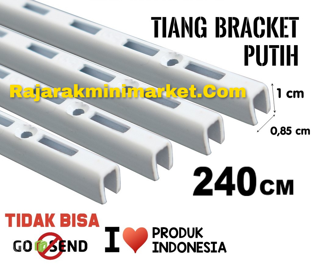 TIANG BRACKET PUTIH 240 CM TIPE TBP240