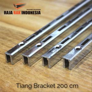 Tiang Bracket 200 cm Chrome - Rel Bracket Besi - Rail Bracket Dinding