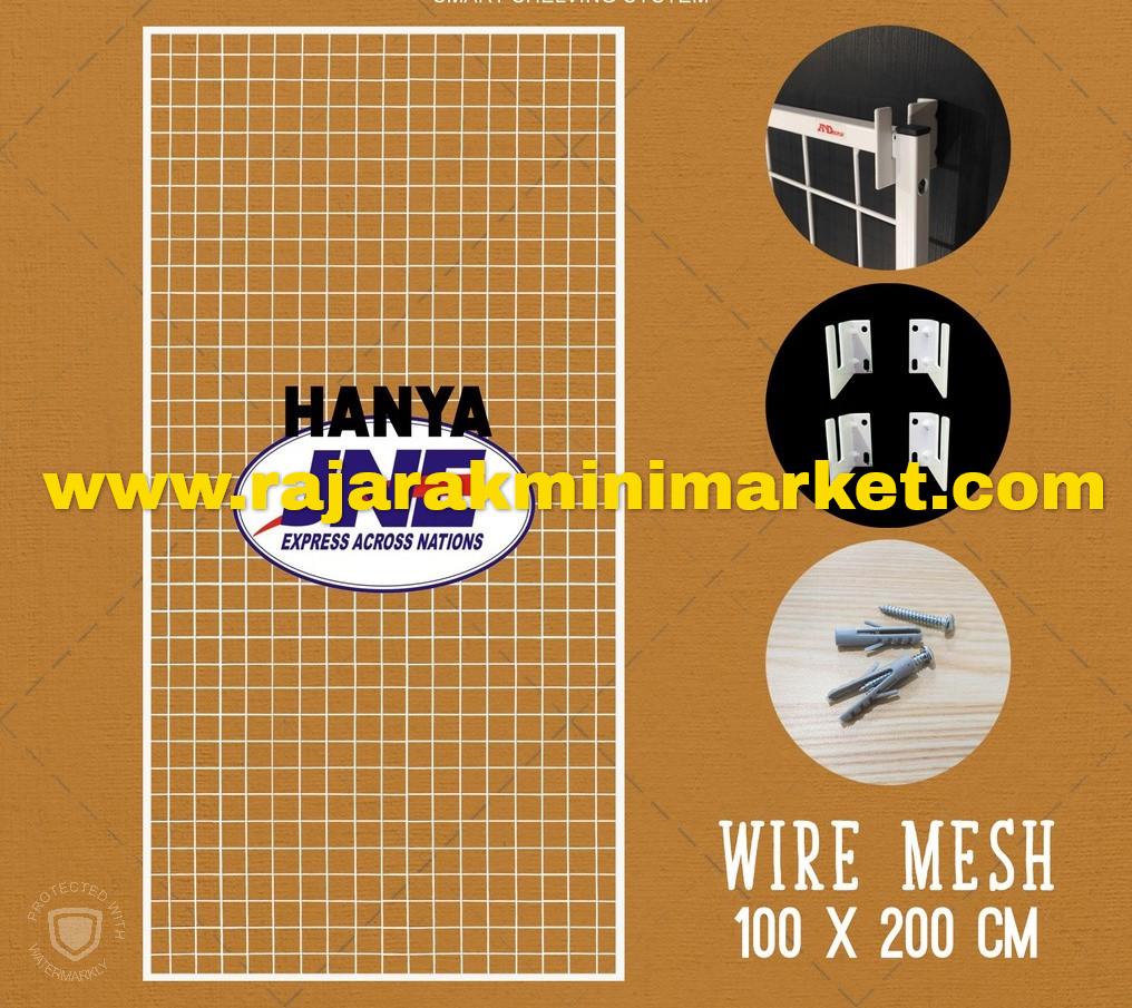 RAM BINGKAI WIREMESH 100x200 CM + H5 WALL PUTIH