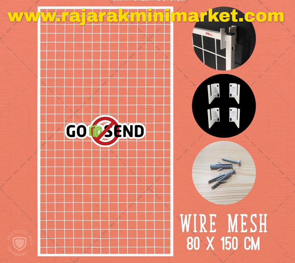 RAM BINGKAI WIREMESH 80x150 CM + H5 WALL PUTIH
