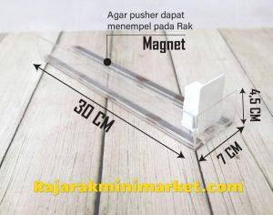 DISPLAY ACRYLIC - AKRILIK PUSHER ROKOK OTOMATIS P.30CM JAKARTA BOGOR BEKASI