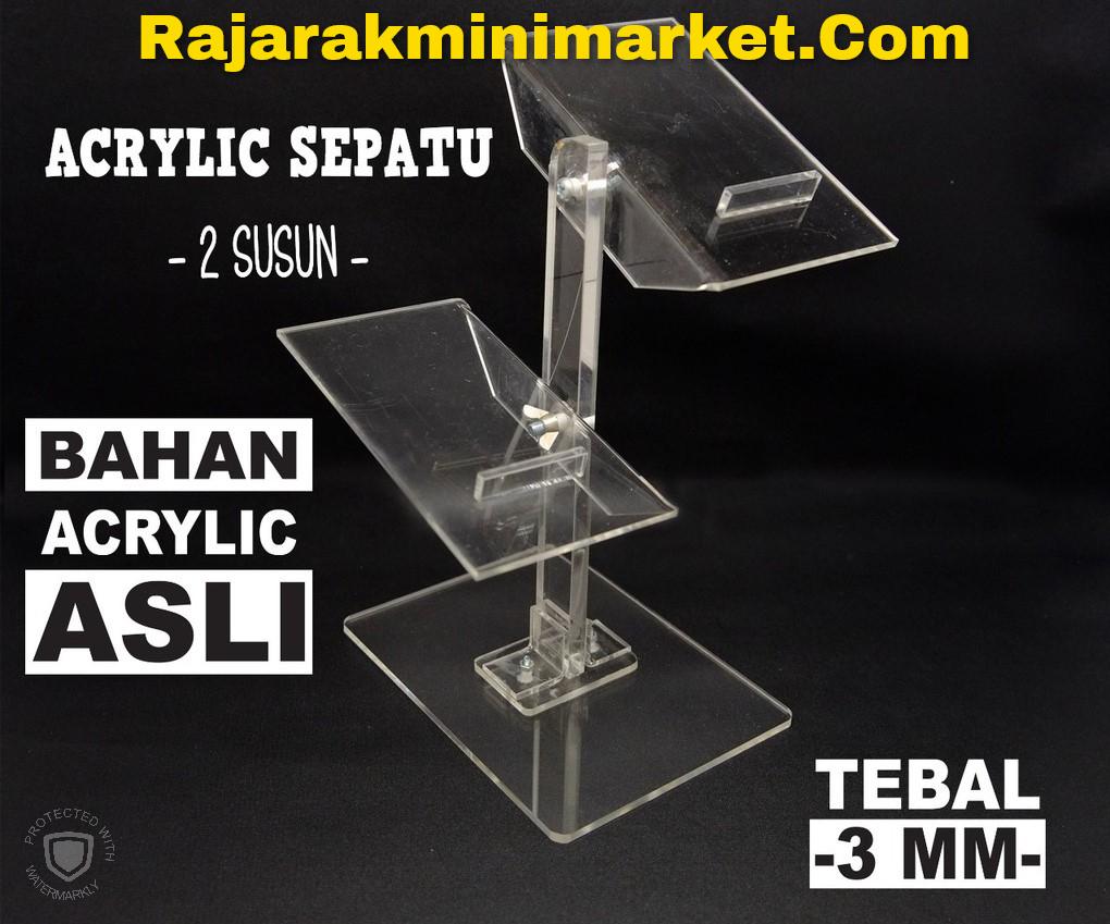 DISPLAY ACRYLIC - AKRILIK SEPATU 2 SUSUN