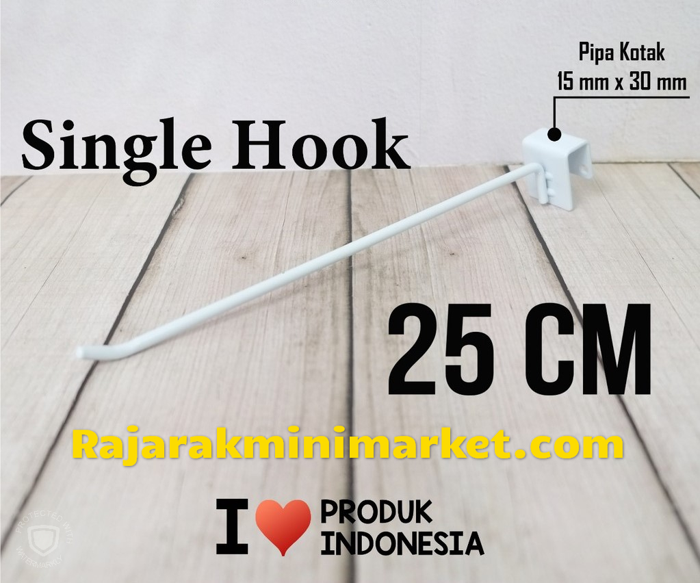 SINGLE HOOK 25 CM / 10 PCS - CANTOLAN KAWAT GANTUNGAN PIPA KOTAK
